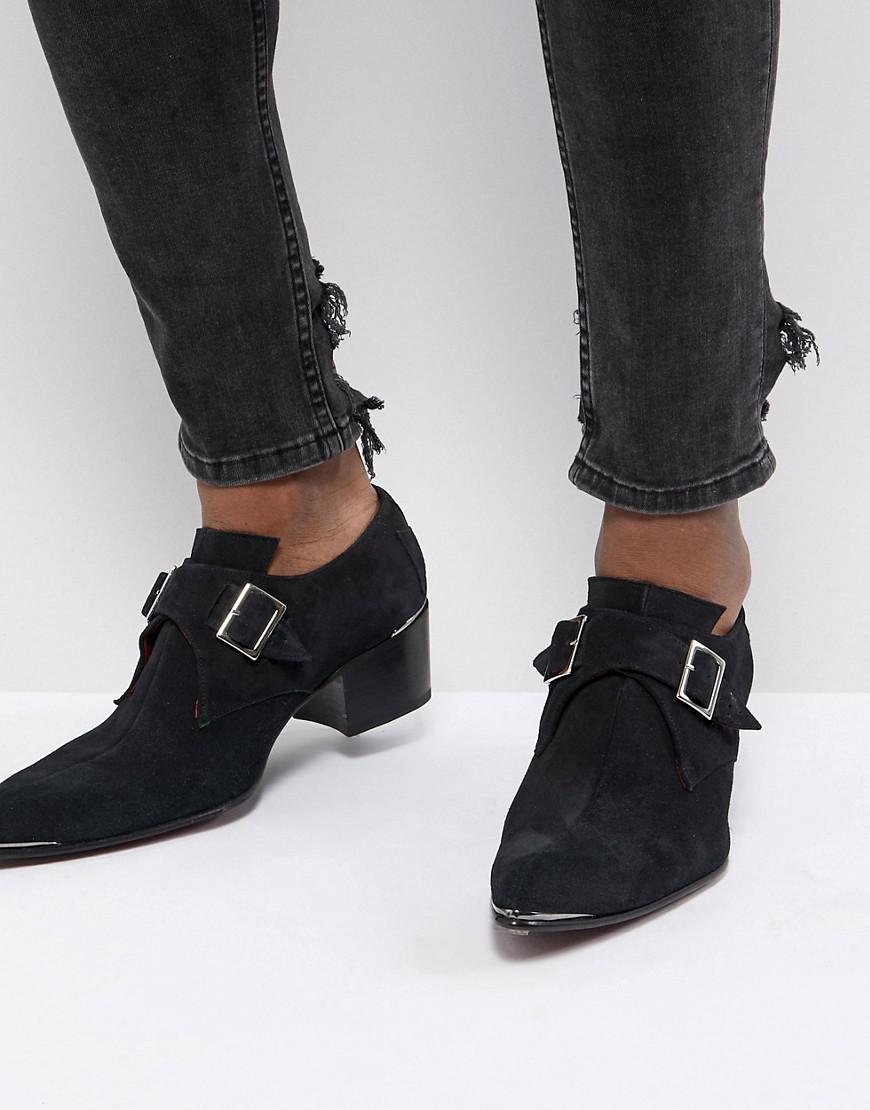 Jeffery West Sylvian Double Monk Suede Shoes yNks24f