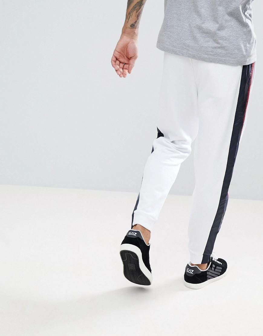 En Sur Armani Rayures Jogging Côté Avec Lyst Le Nylon De Pantalon 6q1gwg