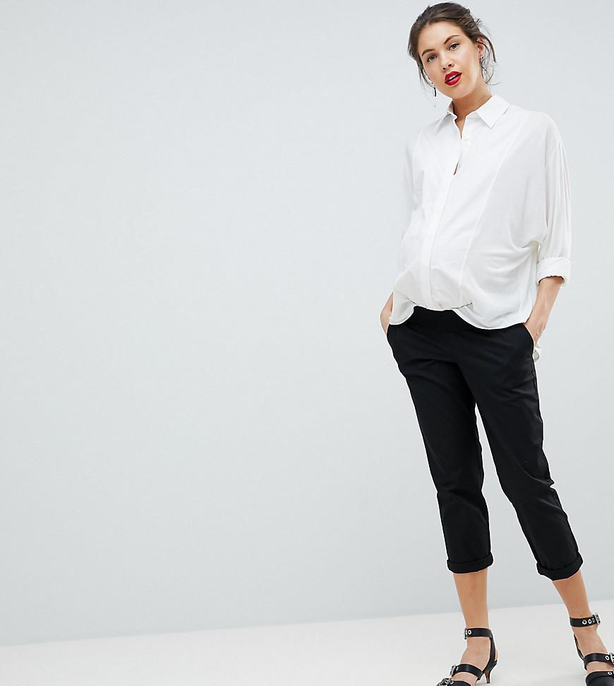 DESIGN chino trousers in black - Black Asos m7fgRRxG