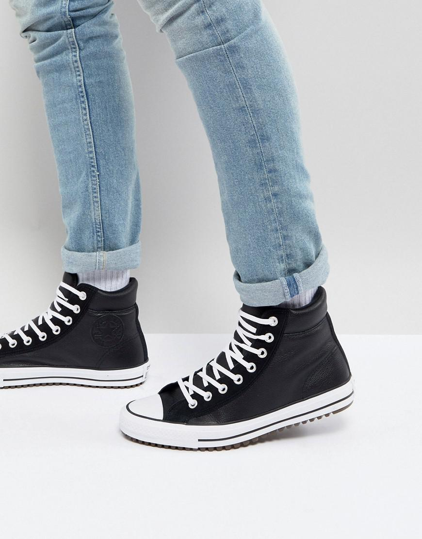 5cf563edc01 Converse. Men s Chuck Taylor All Star Street Sneaker Boots In Black  157496c001