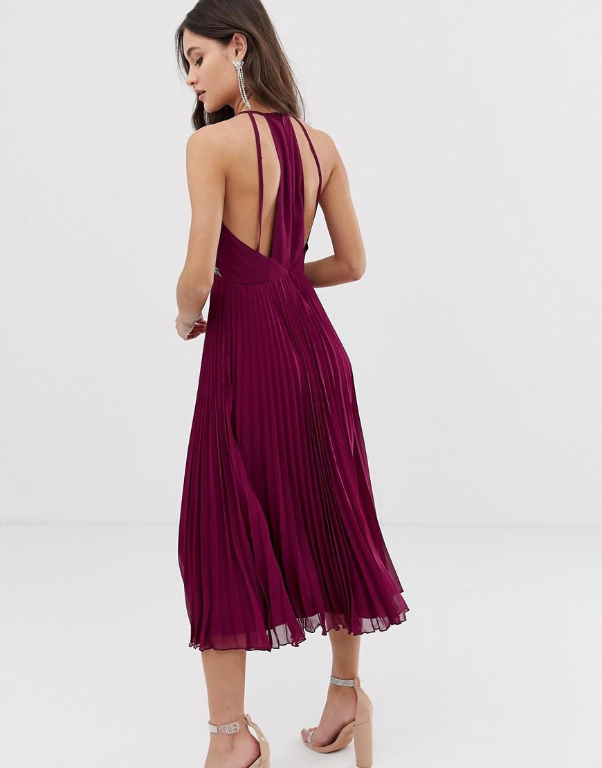 a8c9a7a435c4 Halter Neck Dress Full Skirt