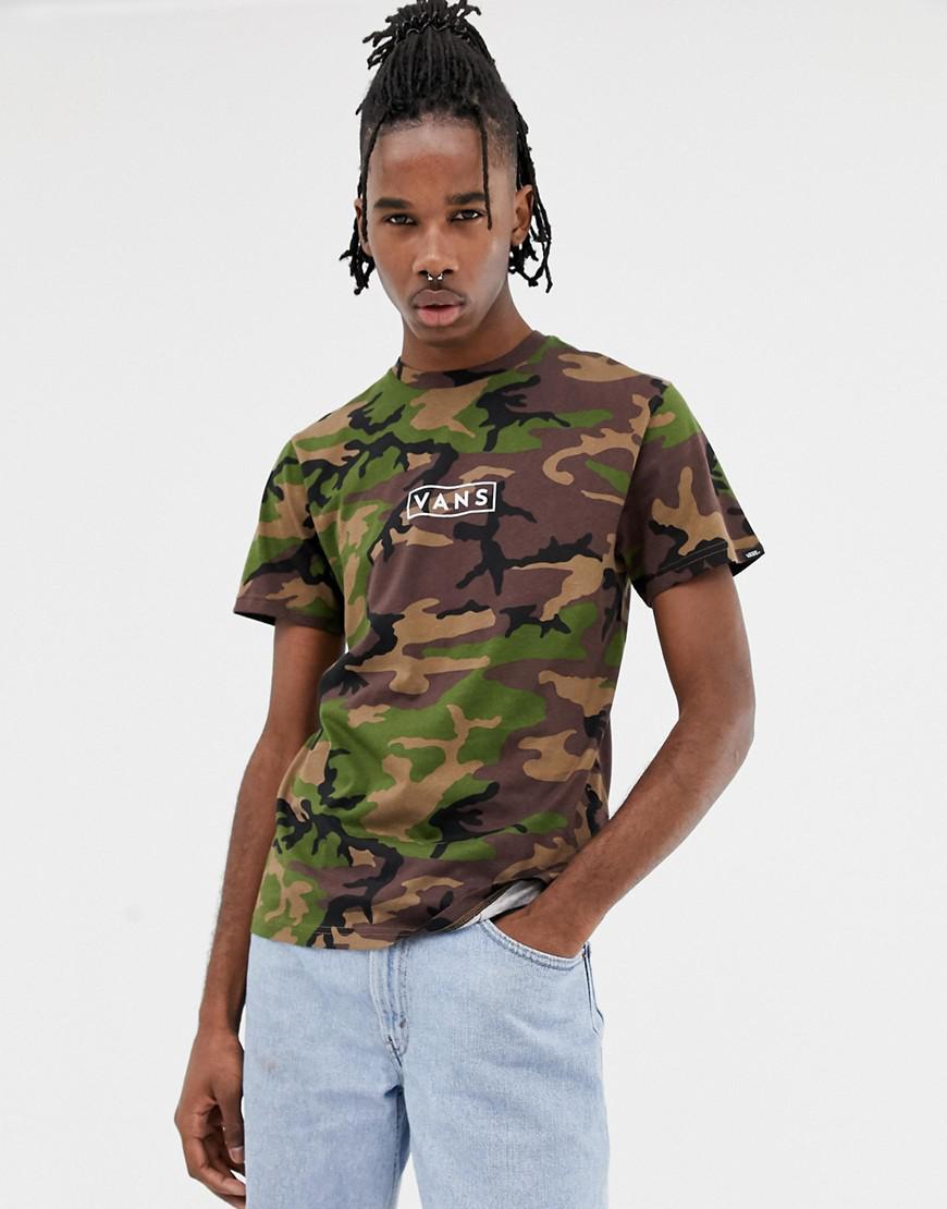 a3d454e8136ea2 Vans - Camo T-shirt With Back Print In Green Vn0a3hrec9h1 for Men - Lyst.  View fullscreen
