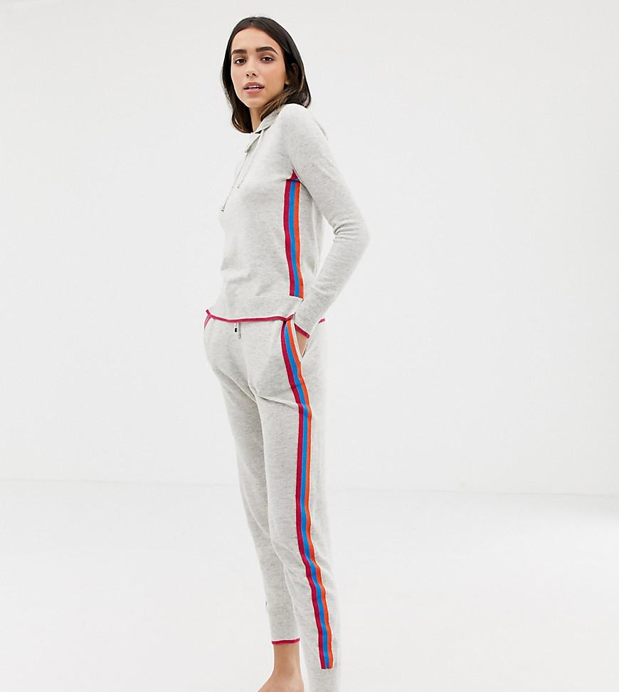 553850df76f Oasis joggers With Rainbow Side Stripe In Grey in Gray - Lyst
