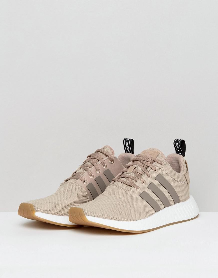 ca4a6be8ee6c6 Lyst - adidas Originals Nmd R2 Sneakers In Beige By9916 in Natural ...