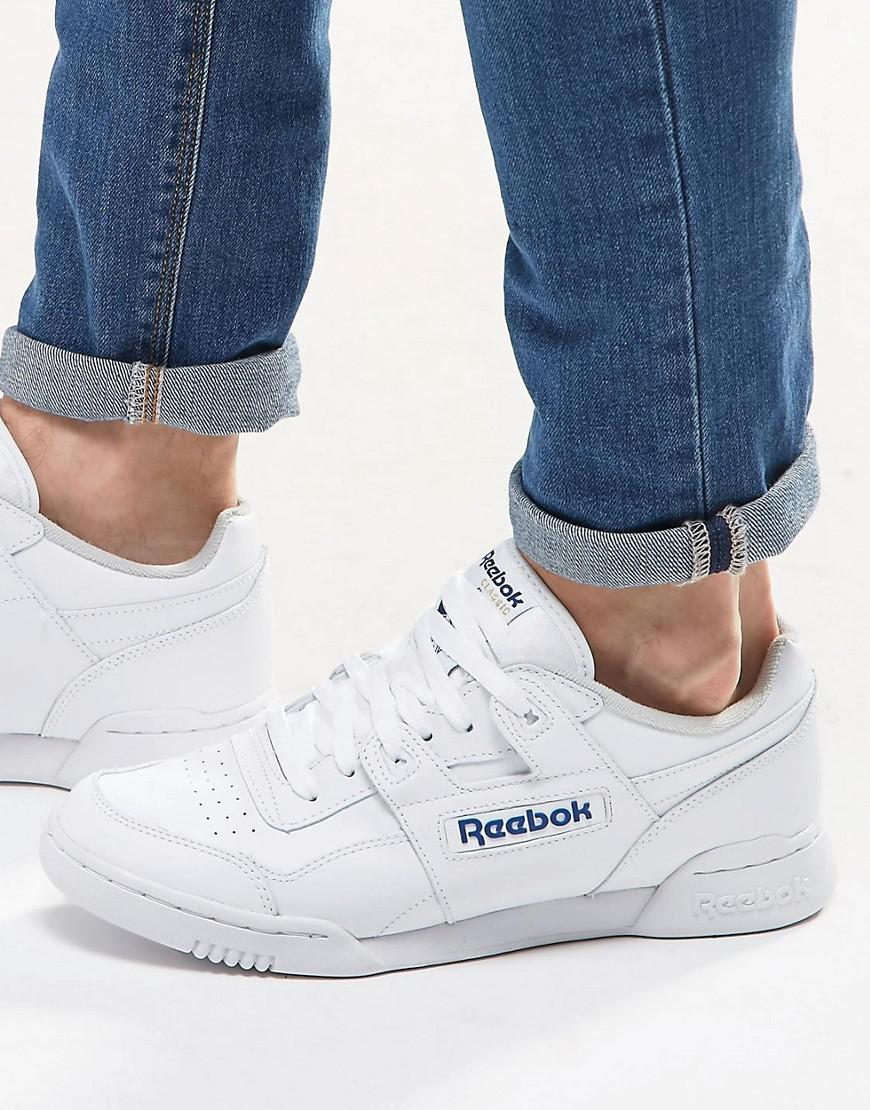 10bf8d4564ed Reebok Workout Plus Trainers In White 2759 in White for Men - Lyst