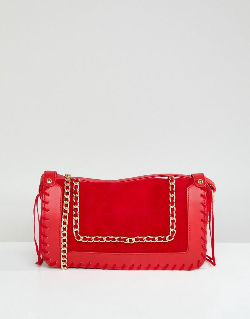 Red Purse with Pearl Embellishment - Red Yoki Fashion