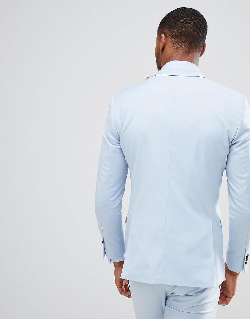 2ea6a990eeecb Jack   Jones Premium Skinny Suit Jacket In Dusty Blue in Blue for Men - Lyst