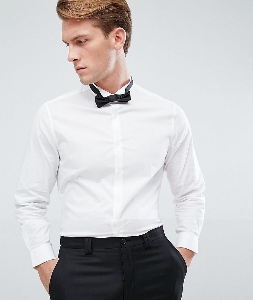 Lyst Asos Slim Shirt With Wing Collar And Bow Tie Set