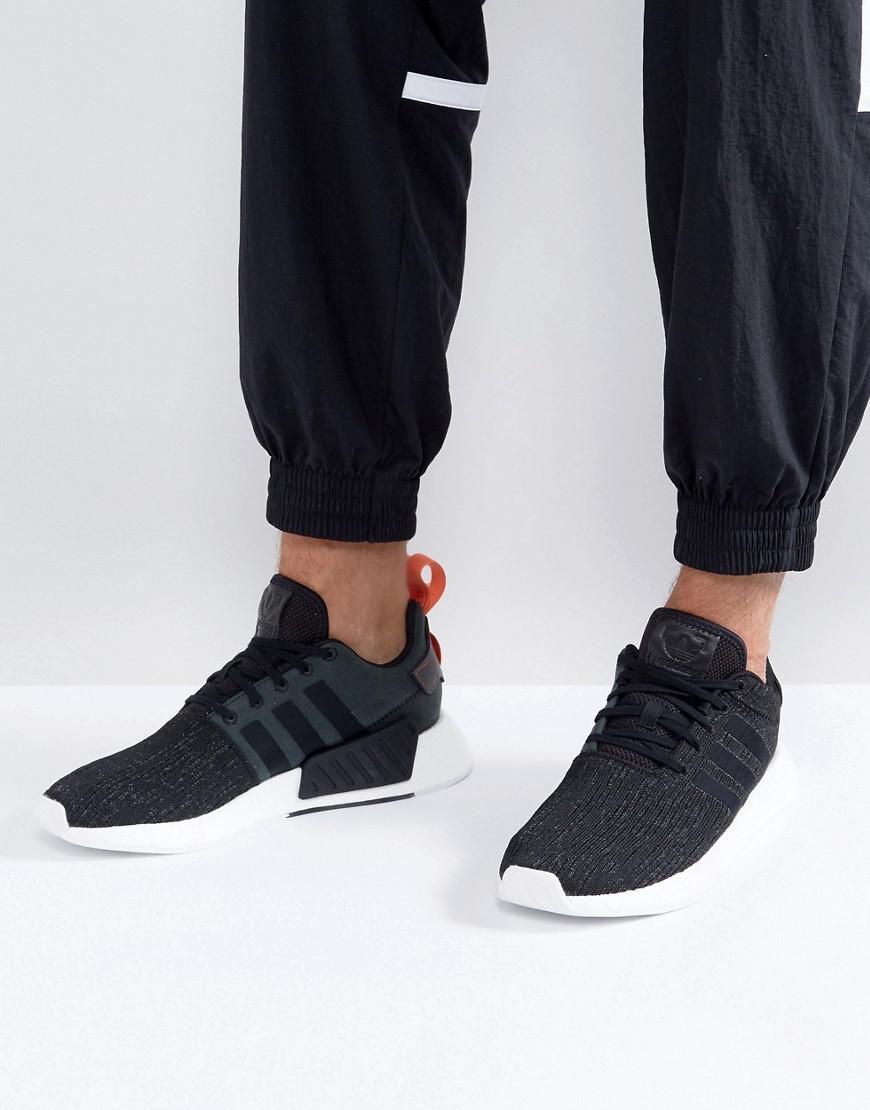 fac32d837 Lyst - adidas Originals Nmd R2 Trainers In Black Cg3384 in Black for Men