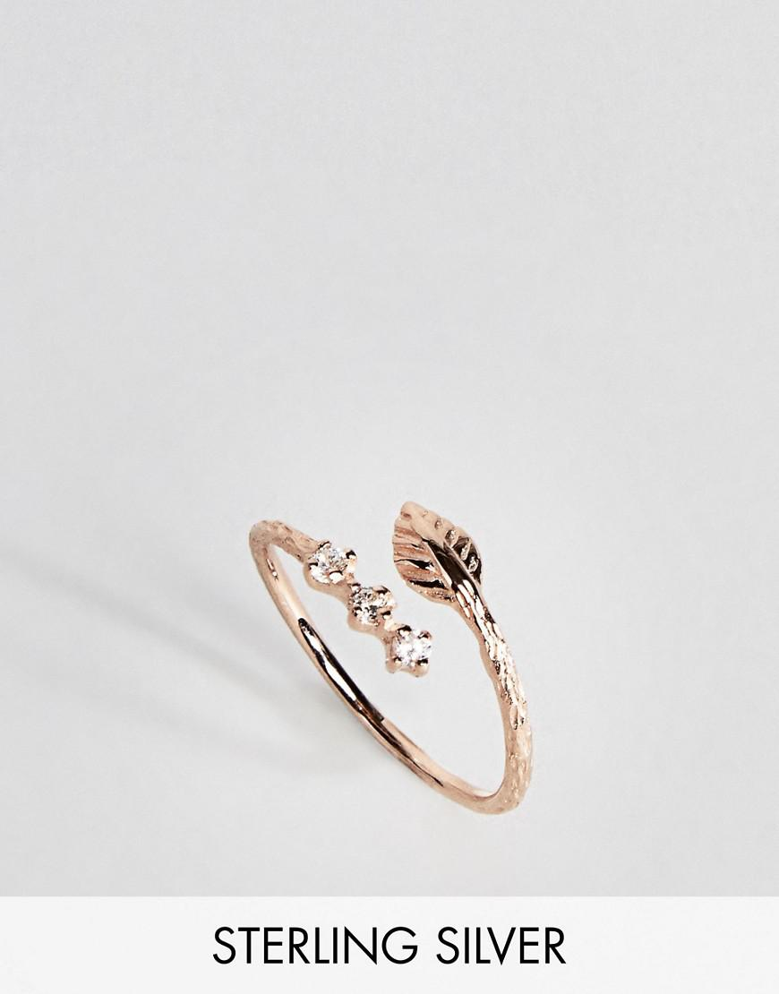 Gold triple band thumb ring