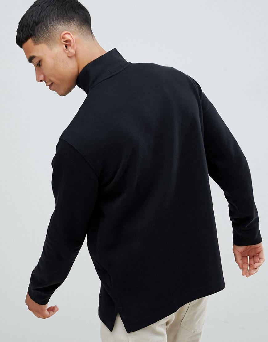 158fcbd833bf Lyst - Pull en tricot de coton demi-fermeture clair avec logo joueur de polo  multicolore Polo Ralph Lauren pour homme en coloris Noir