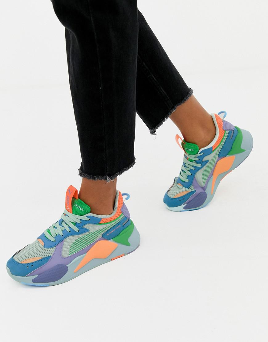 f8a1c8f15b PUMA Rs-x Toys Green And Blue Sneakers in Green - Lyst