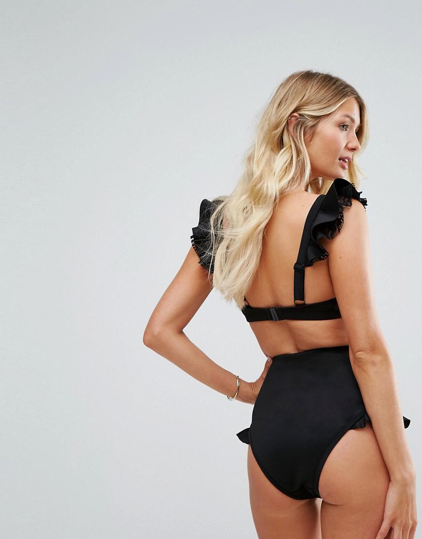 f5b8326a29d ASOS Fuller Bust Lace Neoprene Frill Sweetheart Crop Bikini Top Dd-g ...