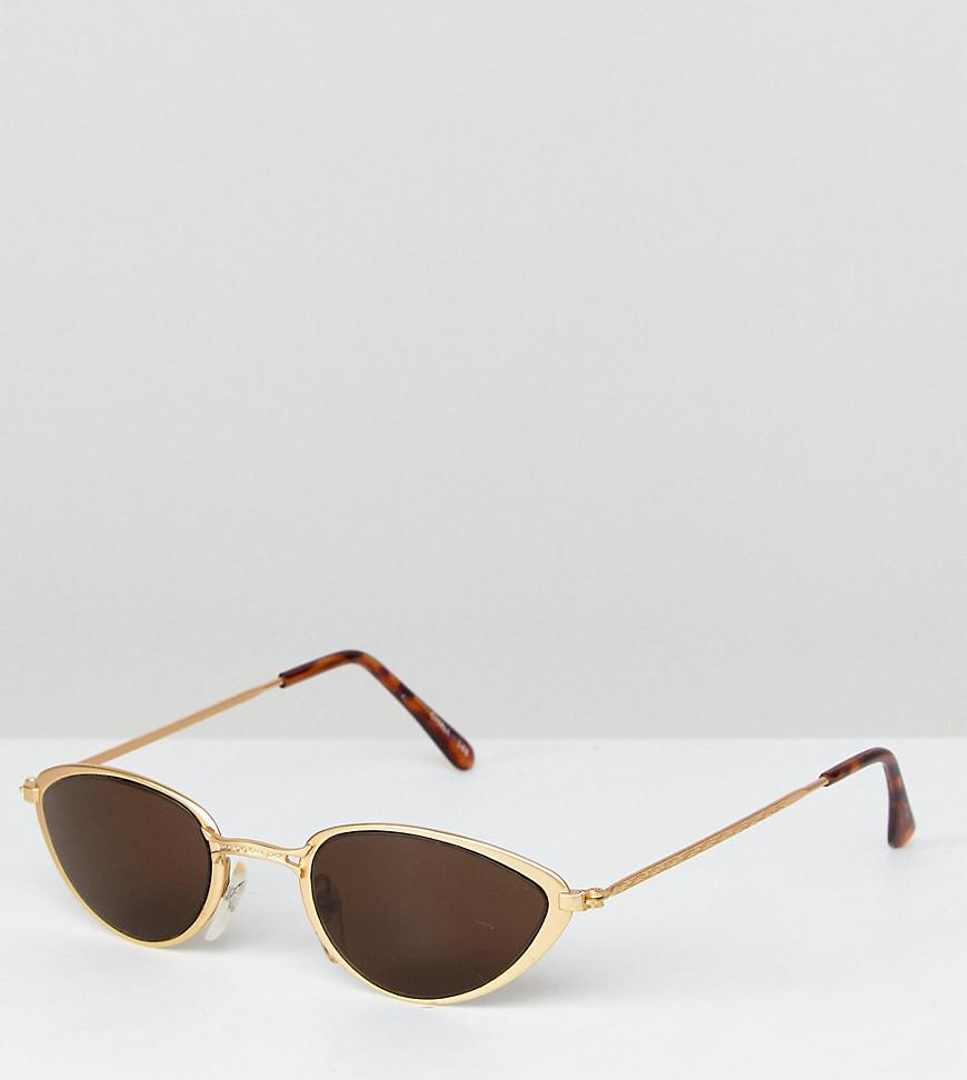 28cf2af7484 Lyst - Reclaimed (vintage) Inspired Cat Eye Sunglasses In Black With ...