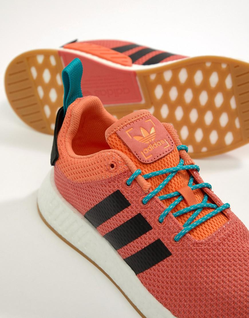 Adidas Originals Formateurs Nmd Boost D'été En Cq3081 Orange, R 2 - Orange,