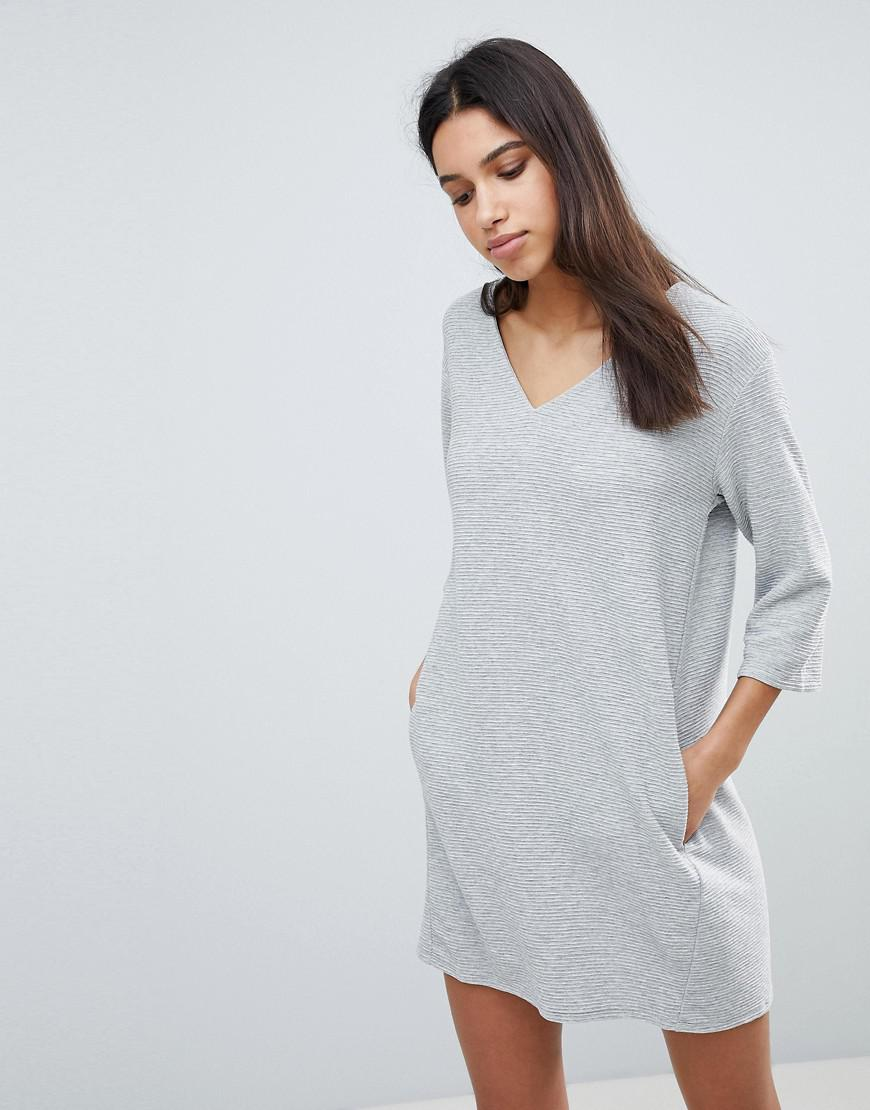4656b776679 French Connection Sudan Luella Jersey Shift Dress in Gray - Lyst