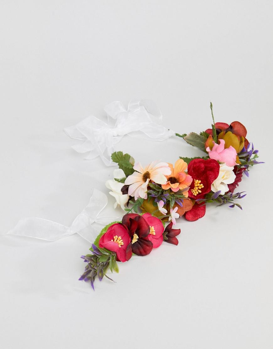 Lyst Asos Design Bridesmaid Floral Garland Headband And Corsage