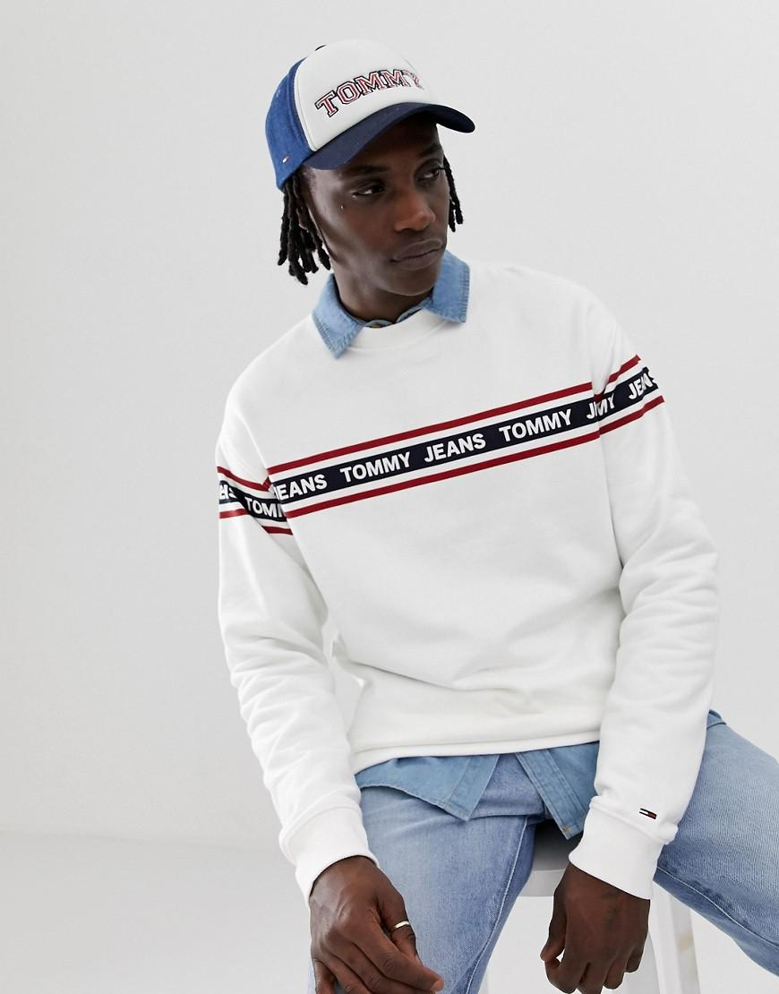 3088b053 Tommy Hilfiger. Men's Relaxed Fit Sweatshirt With Chest And Sleeve ...