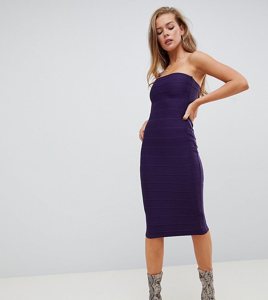 812cd89237dd Missguided - Bandage Midi Dress In Purple - Lyst. View fullscreen