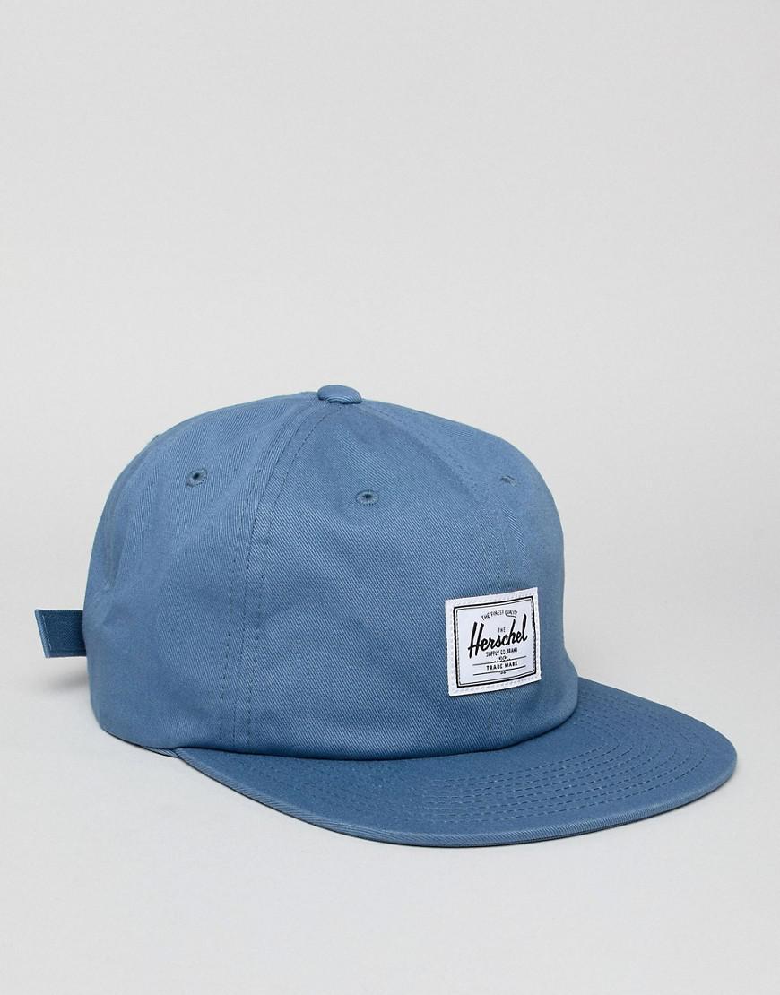 d83f95a55a4 Lyst - Herschel Supply Co. Albert Snapback Cap in Blue for Men