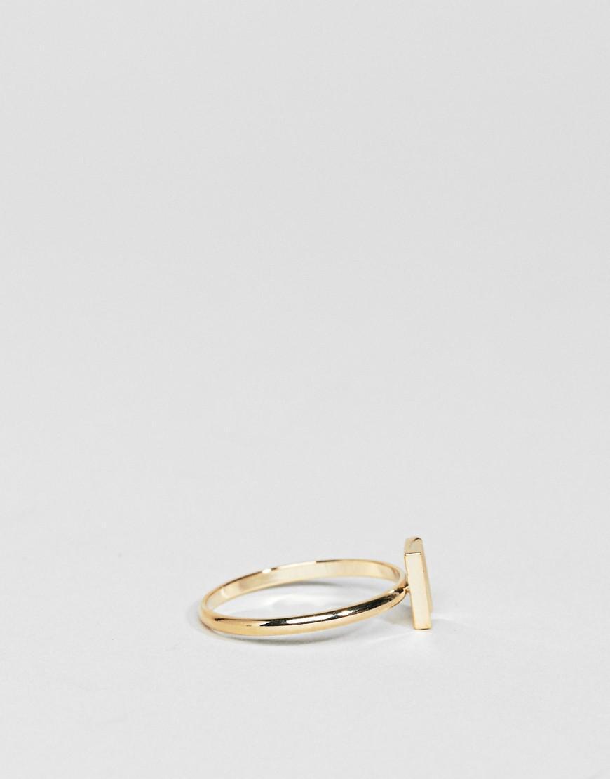 Limited Edition Sleek Flat Edge Graduated Ring - Gold Asos GNlKL1OVW