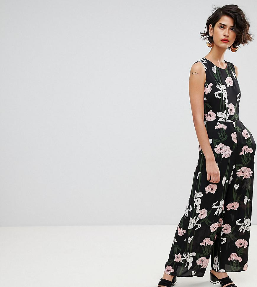 e66c7cd5e869 Lyst - Warehouse Tiger Lily Sleeveless Wide Leg Jumpsuit in Black