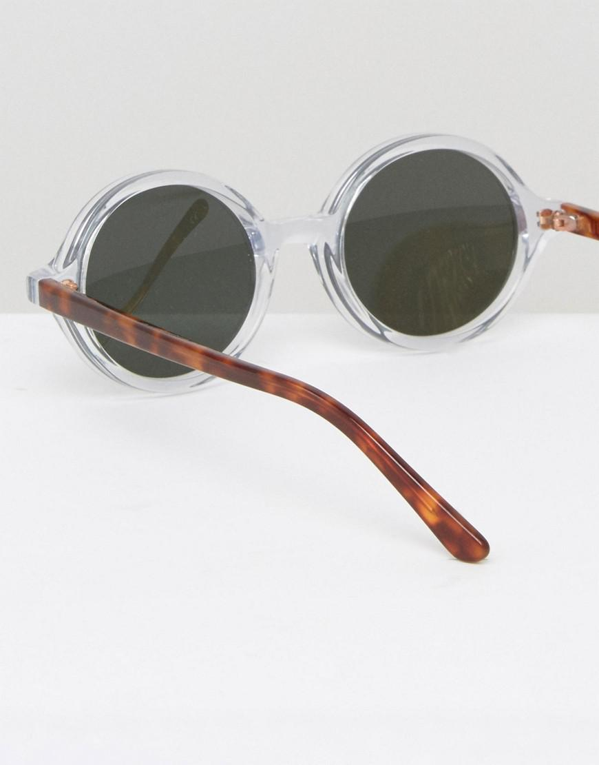 7dad1836dd Lyst - Han Kjobenhavn Round Sunglasses Doc Clear for Men