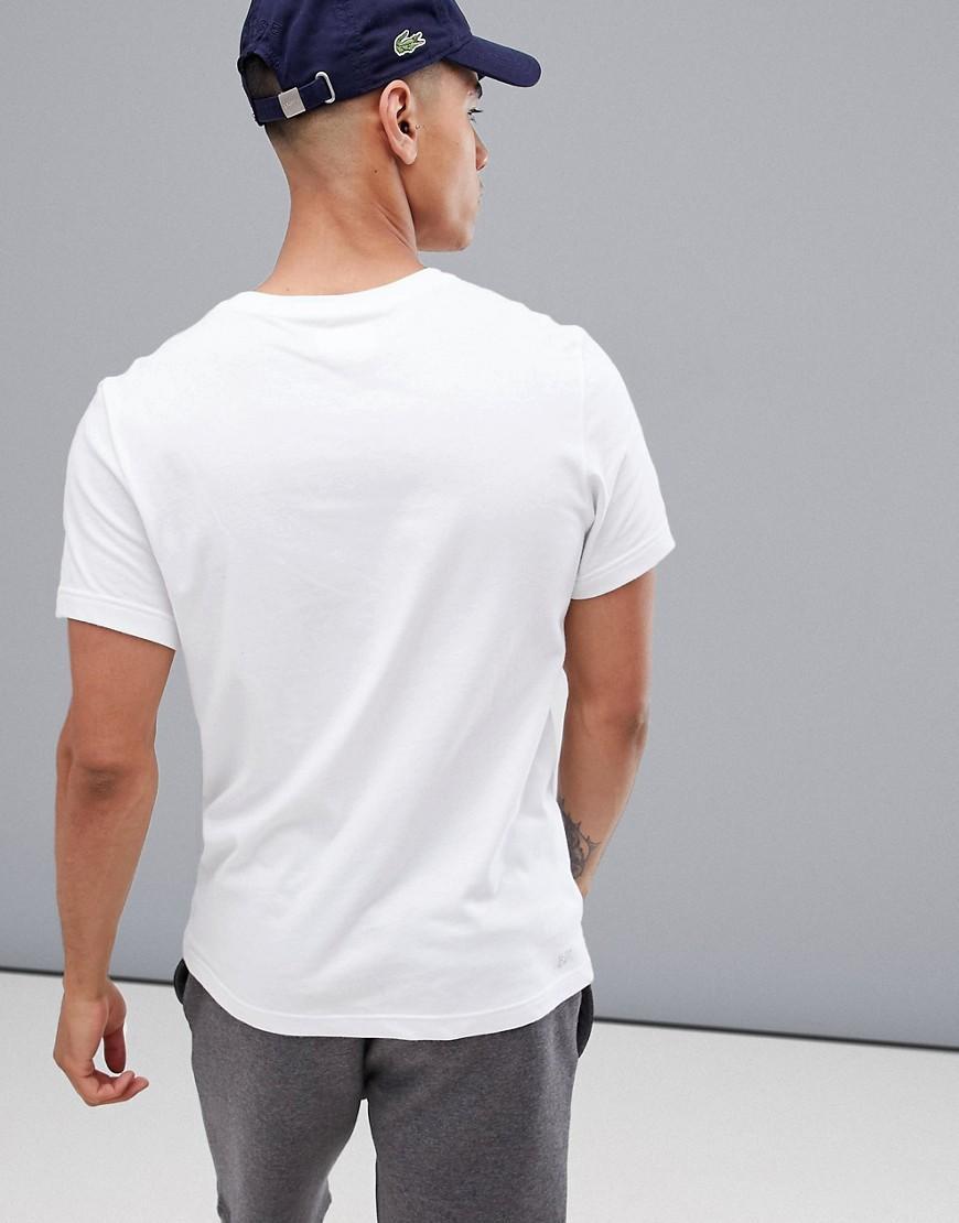be012532891 Crocodile Homme T Sport Lacoste Lyst Shirt Pour Avec En Grand Logo XwBx4z