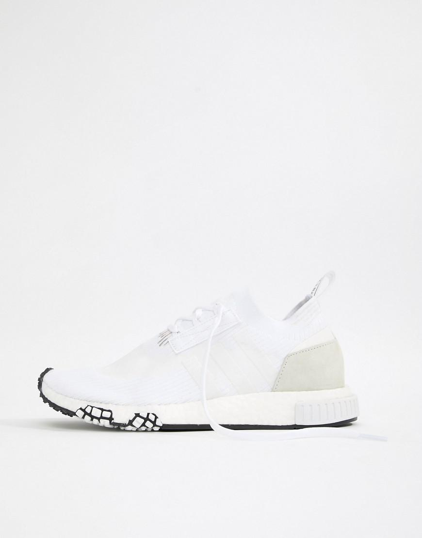 60cf9208f adidas Originals Nmd Racer Pk Sneakers In White B37639 in White for ...