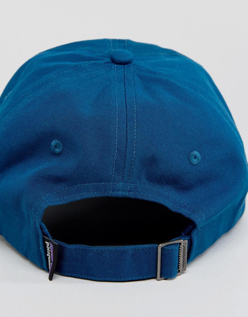 505f7fb37ec Patagonia P-6 Baseball Cap Trad Label In Blue in Blue for Men - Lyst