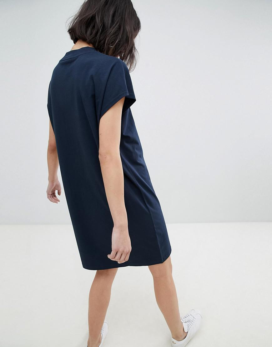 Sale Many Kinds Of High Neck Dress - Blue Weekday Cheap Big Discount HhsMZmPlCx