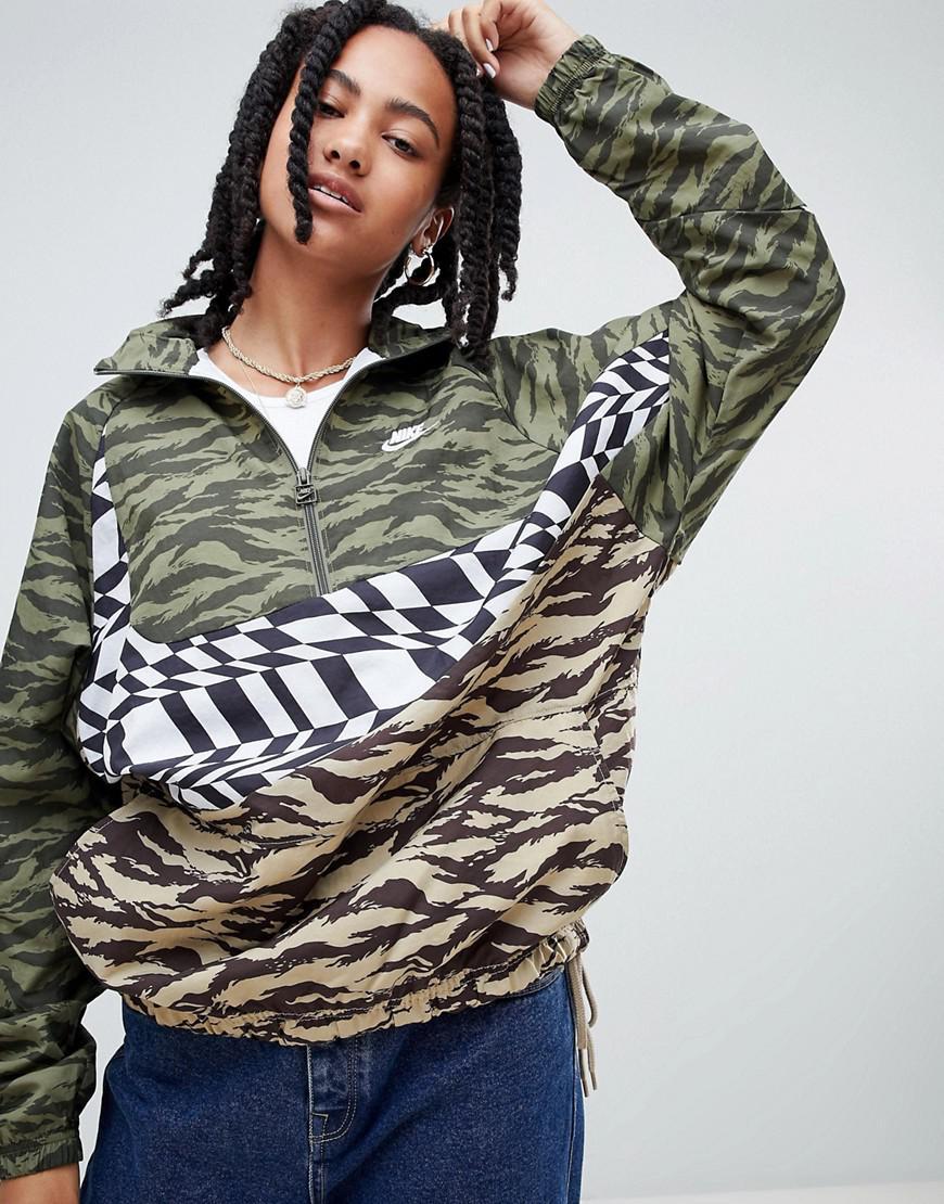 7974075ec16b Nike. Women s Vaporwave Printed Half Zip Jacket