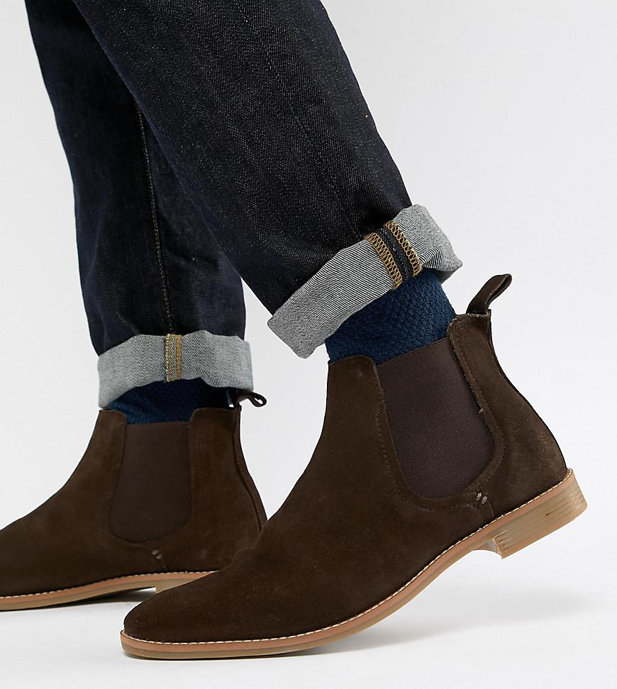0caf01a98 ASOS Chelsea Boots In Brown Suede With Natural Sole in Brown for Men ...