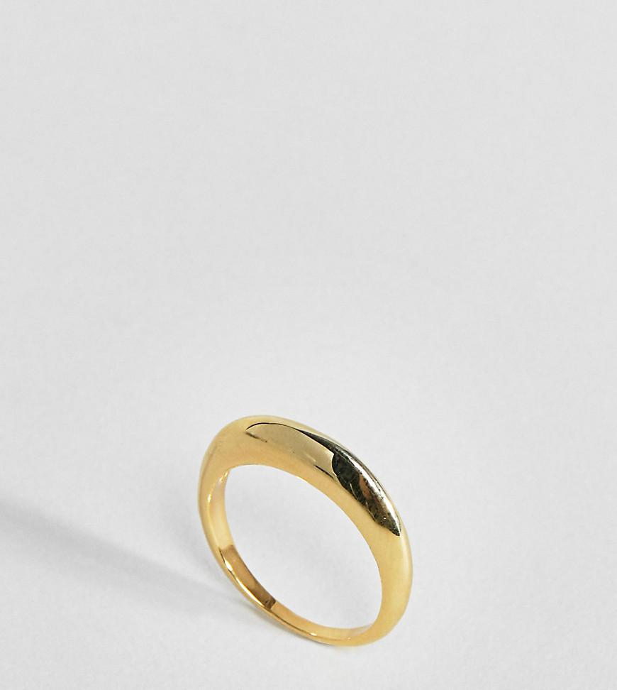 Gold Plated Sterling Silver Triple Row Etched Band Ring - Gold Asos WMP2p2
