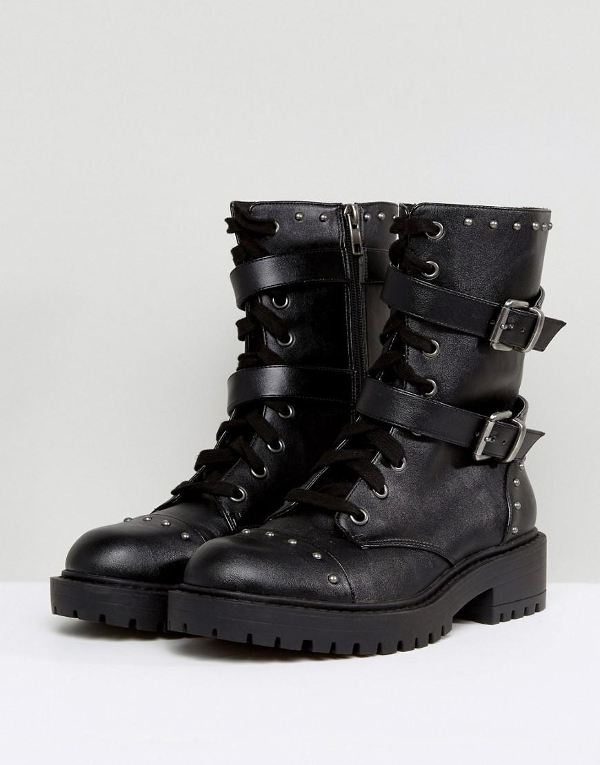 f5aa1c355e16 Asos Asos Acidic Military Ankle Boots in Black - Lyst