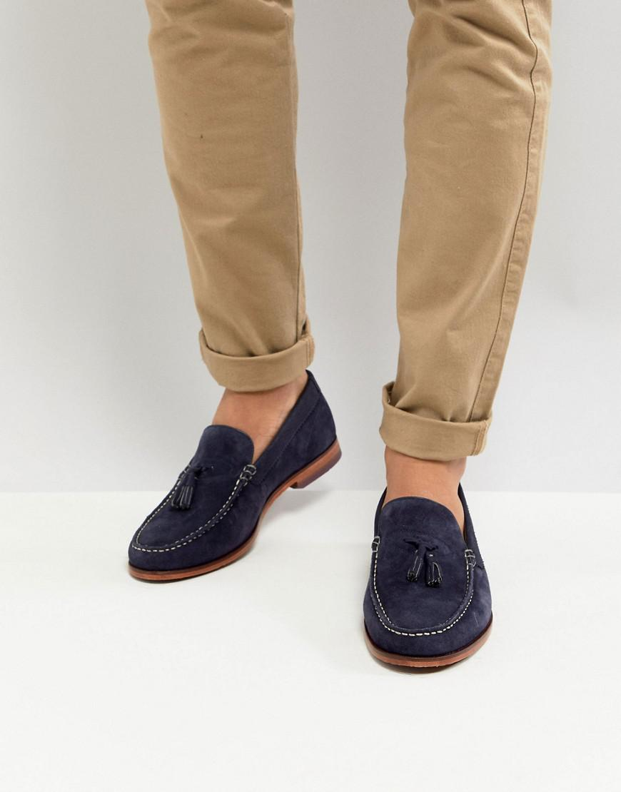 cheap excellent big sale sale online Ted Baker Dougge Suede Loafers In Stone with paypal sale online ednG9CX3