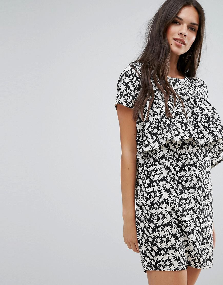 Maxi Dress in Star Print - Black Daisy Street Limited Edition For Sale Sale Sast Discount Browse tX6fFmEs