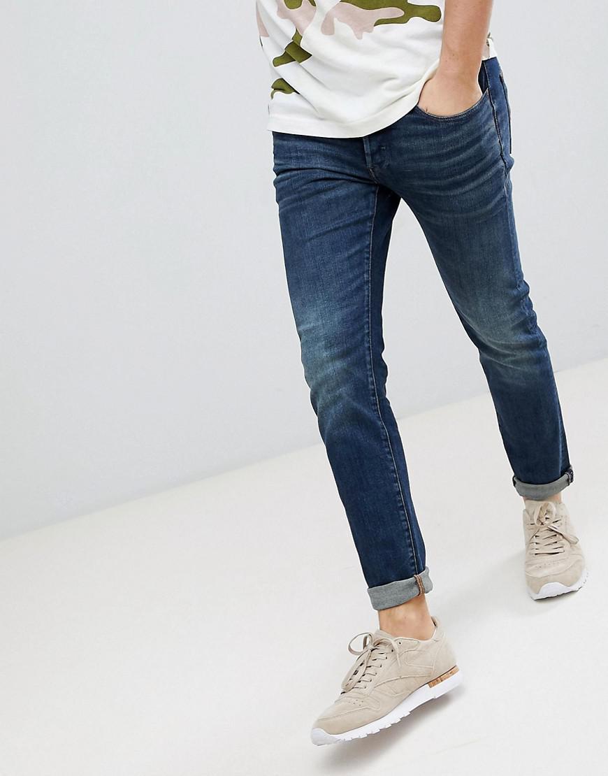 32aebd0347b G-Star RAW 3301 Deconstructed Slim Jean Medium Aged in Blue for Men ...