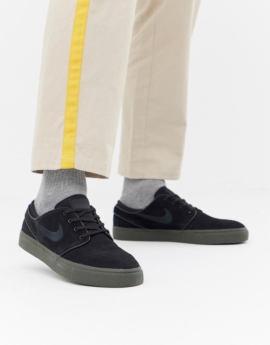 84a58553f7370 Nike Zoom Stefan Janoski Trainers In Black 333824-072 in Black for ...