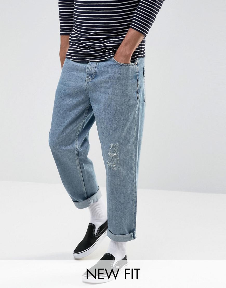 5fdc9e04c061 ASOS Asos Skater Jeans In Vintage Light Wash Blue in Blue for Men - Lyst