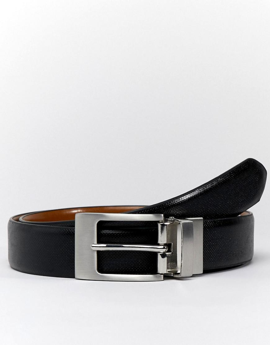 46476b624928 Moss Bros Moss London Reversible Belt In Faux Leather in Brown for ...