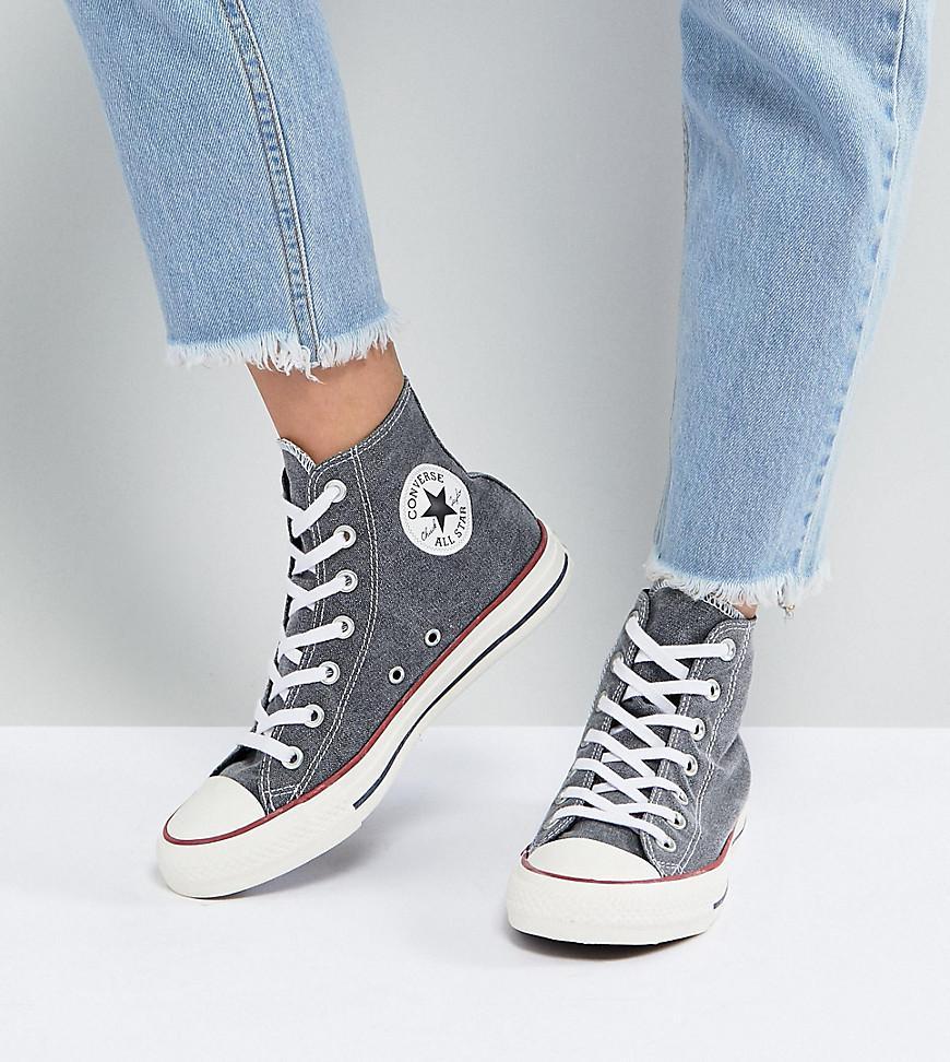 b1e1a9f9de0db8 Lyst - Converse Chuck Taylor All Star Hi Sneakers In Stonewashed ...