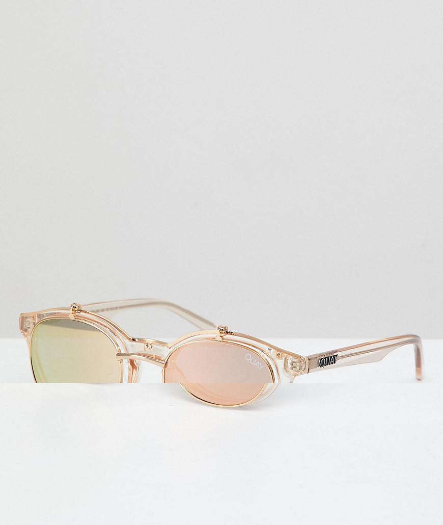 a418a36e29 Quay. Men s Metallic Festival Collection Featuring Sofia Richie Penny Royal  Round Sunglasses ...