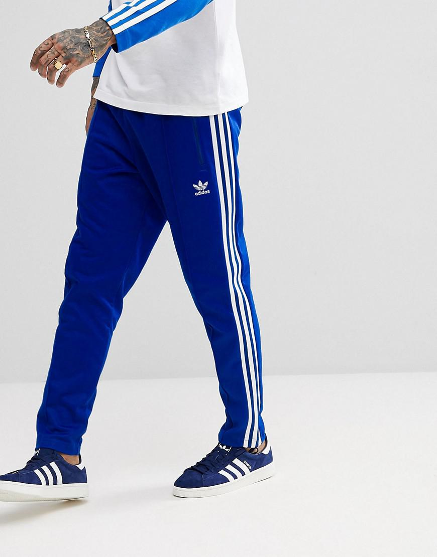 Lyst - Adidas Originals Adicolor Beckenbauer Joggers In Skinny Fit In Blue Cw1271 in Blue for Men