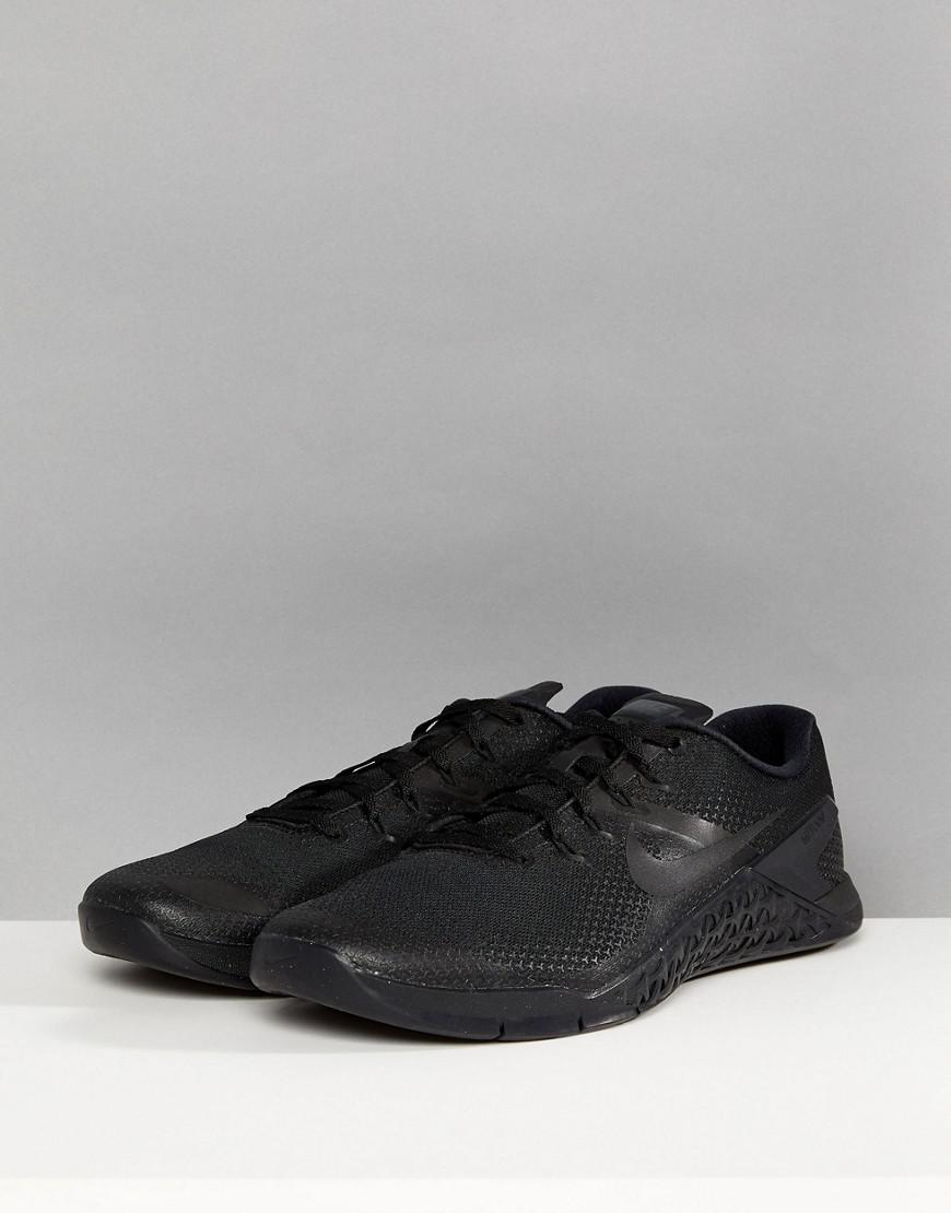 best authentic 2b4b2 ee6b7 Nike Metcon 4 Training Shoe In Black Ah7453-001 in Black for