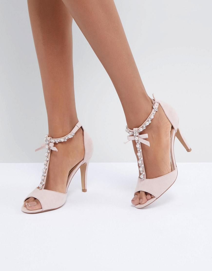 Dune Mercedes Pearl Trim Heeled Sandals Uz5rTe