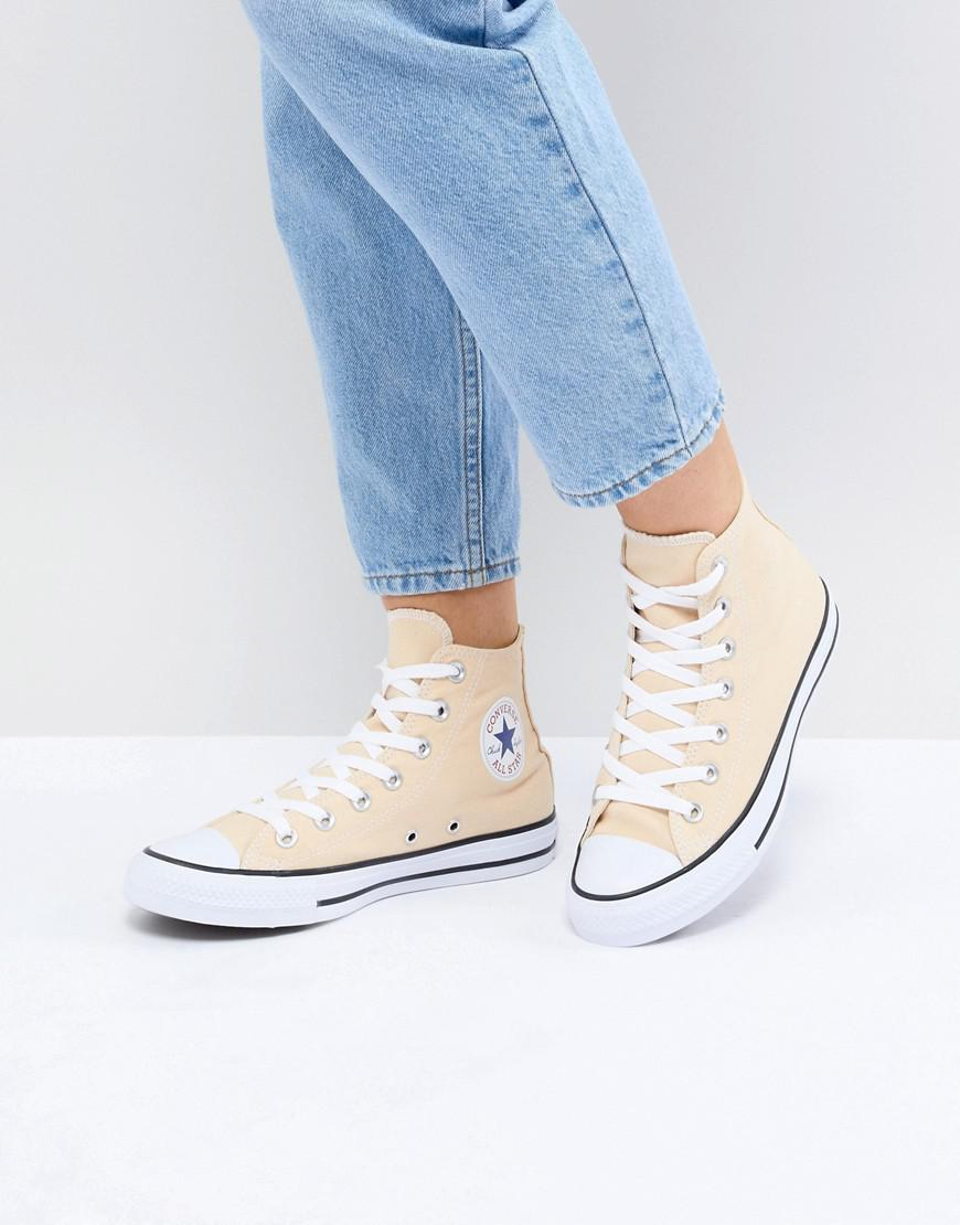 dbd3adece7bf Lyst - Converse Chuck Taylor All Star Hi Sneakers In Yellow in Yellow