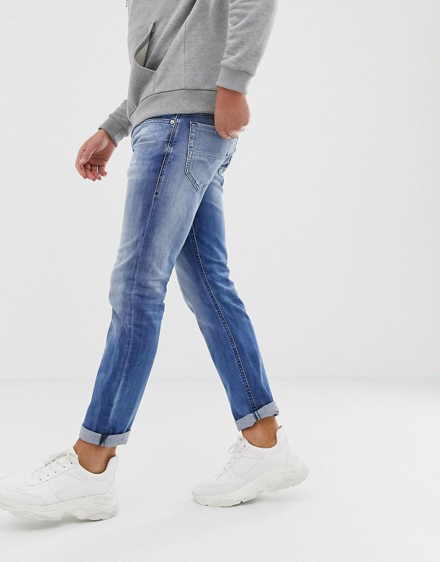 df4b7fcd DIESEL Thommer Stretch Slim Fit Jeans In 081as Light Wash in Blue for Men -  Lyst