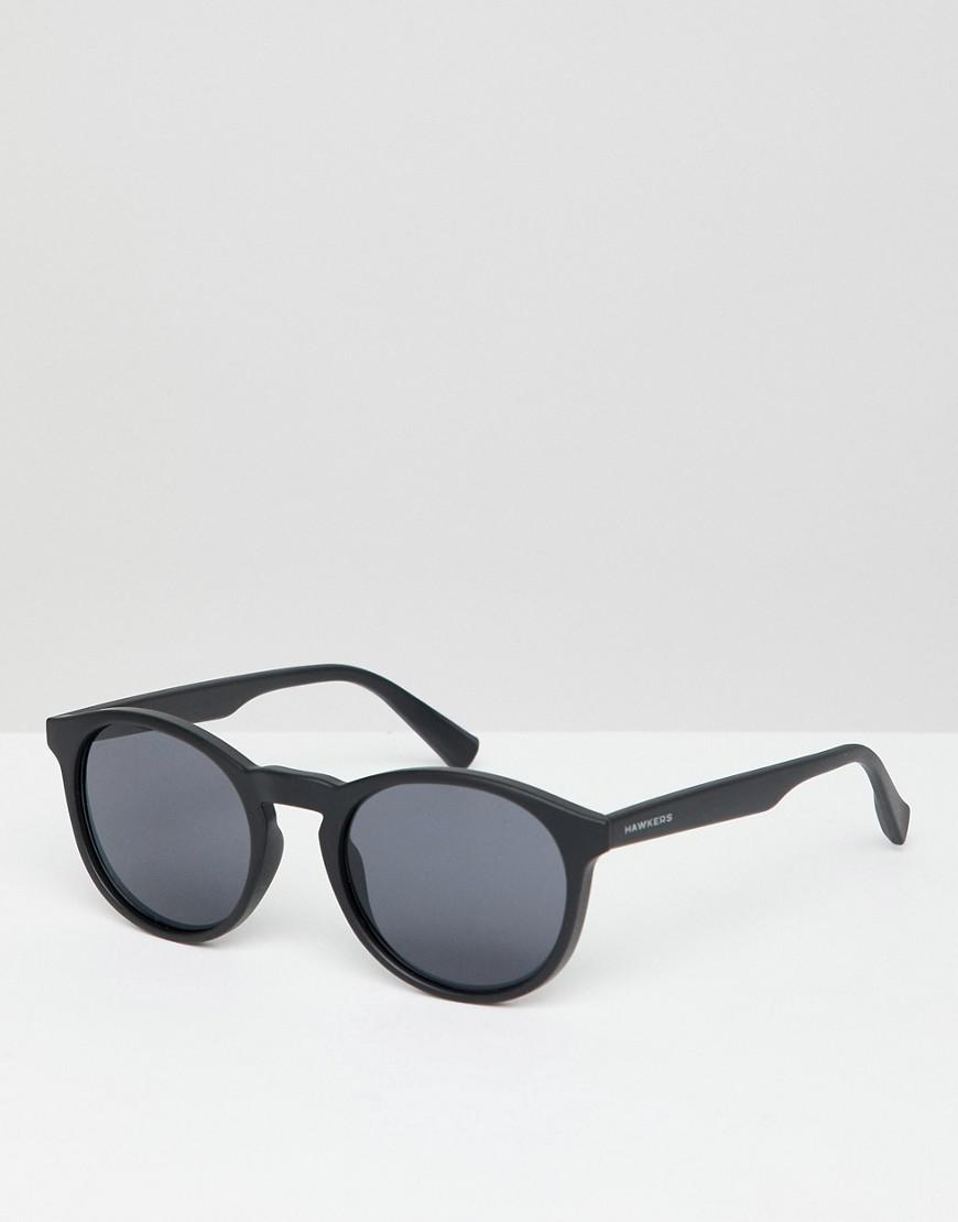 20b10ad487 Lyst - Hawkers Hawkers Bel-air Round Sunglasses In Black in Black ...