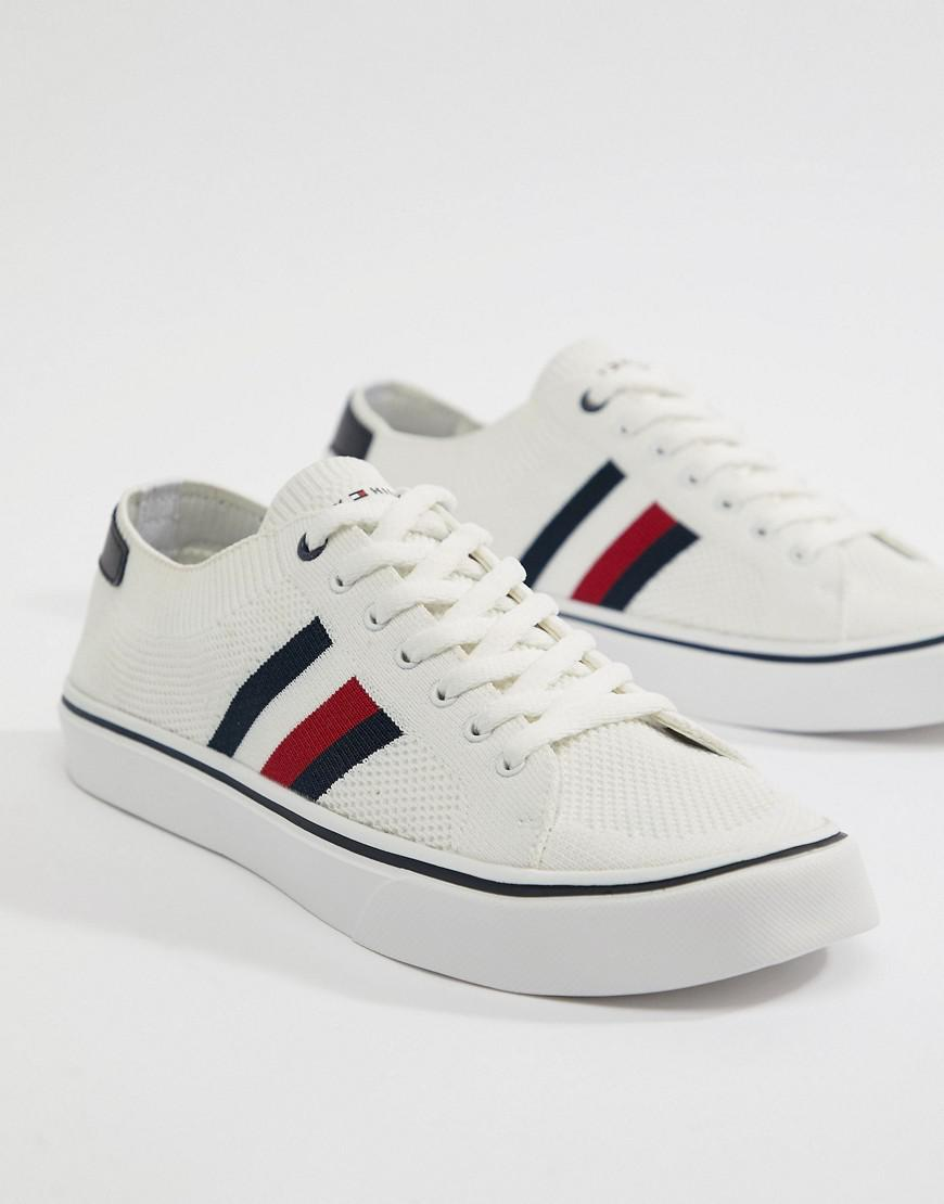 cheap price outlet brand new unisex Tommy Hilfiger Icon Stripe Knit Trainers in White comfortable online buy cheap comfortable online cheap 9LWvtKqCF